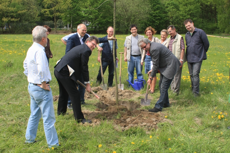 Heimatwald Beginn der Pflanzaktion