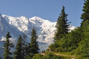 Blick auf den Mont Blanc.