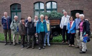 Die Lüner Gruppe vor dem Bergbaumuseum Kleinzeche Max Rehfeld.