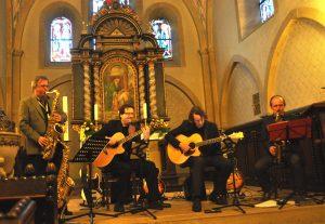 Die Formation Gegenwind bei ihrem Auftritt in der evangelischen St. Remigiuskirche Mengede.
