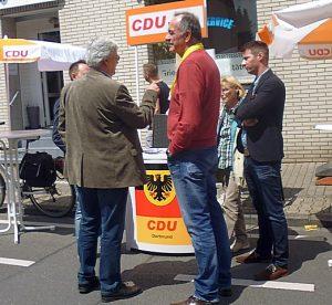 Die örtliche CDU freute sich über einen Platz an der Sonne.