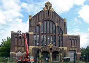 Ein architektonisches Juwel, das aus dem Dornröschenschlaf geweckt werden sollte: die Westhausen-Lohnhalle.